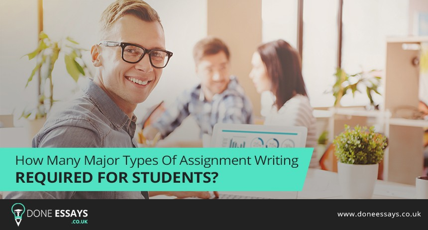 How Many Major Types Of Assignment Writing Required For Students?