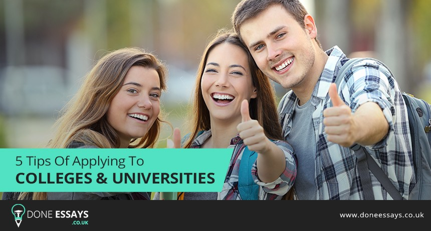 5 Tips of Applying to Colleges & Universities
